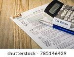 tax reform planning concept...   Shutterstock . vector #785146429
