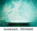 green grungy cement shelf for...   Shutterstock . vector #785146681