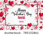 happy saint valentine's day... | Shutterstock .eps vector #785152861