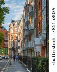 Small photo of London, UK - August 25, 2017: Residential aria of Kensington and Chelsea. Cadogan gate with row of periodic buildings. Luxury property in the centre of London.