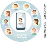 male's online community.... | Shutterstock .eps vector #785164489