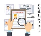 bewerbung concept illustration. ...   Shutterstock .eps vector #785166571