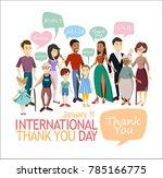 international thank you day.... | Shutterstock .eps vector #785166775