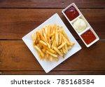 fresh french fries on white...   Shutterstock . vector #785168584