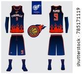 basketball uniform template... | Shutterstock .eps vector #785171119