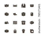 box and crates icons. perfect... | Shutterstock .eps vector #785171401