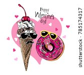 card of a valentine's day.... | Shutterstock .eps vector #785174317