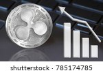 coin ripple xrp close up with a ... | Shutterstock . vector #785174785
