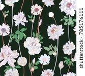 asian style botanical seamless... | Shutterstock .eps vector #785176111