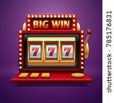 jackpot slot casino machine.... | Shutterstock . vector #785176831