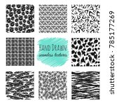 hand drawn textures. scribble... | Shutterstock . vector #785177269