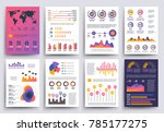 graphical business report... | Shutterstock . vector #785177275