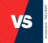 vs versus blue and red comic... | Shutterstock .eps vector #785178397