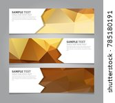 abstract geometric banners  | Shutterstock .eps vector #785180191