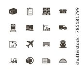 cargo icons. perfect black... | Shutterstock .eps vector #785181799