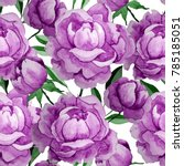 watercolor flower seamless...   Shutterstock . vector #785185051