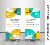 fitness roll up banner template ... | Shutterstock .eps vector #785186185