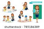 kindergarten teacher women of... | Shutterstock .eps vector #785186389