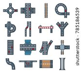 road parts constructor icons... | Shutterstock .eps vector #785186539