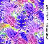 watercolor seamless pattern... | Shutterstock . vector #785187325