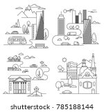 city landscapes line ... | Shutterstock . vector #785188144