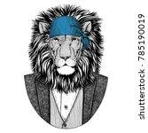wild lion wild biker  pirate... | Shutterstock . vector #785190019