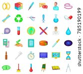 development icons set. cartoon... | Shutterstock .eps vector #785190199