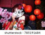 kimono girl in kyoto | Shutterstock . vector #785191684