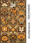 set of decorative elements in...   Shutterstock .eps vector #785194045