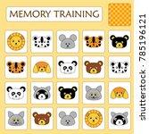 memory game for preschool... | Shutterstock .eps vector #785196121