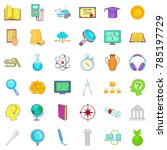 knowledge icons set. cartoon... | Shutterstock .eps vector #785197729