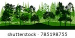 vector landscapes with pine and ... | Shutterstock .eps vector #785198755