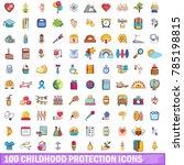 100 childhood protection icons