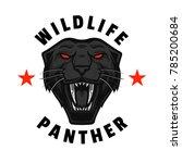 wildlife roaring panther  tees...   Shutterstock .eps vector #785200684