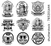 vintage beer drink bar labels.... | Shutterstock . vector #785201644