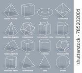abstract 3d math geometric...   Shutterstock . vector #785202001