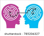 labyrinth in the heads.... | Shutterstock .eps vector #785206327