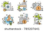 set of outline icons of payment.... | Shutterstock .eps vector #785207641