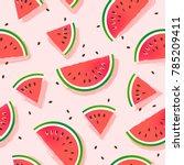 watermelon slices vector... | Shutterstock .eps vector #785209411