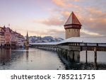 historic city center of lucerne ... | Shutterstock . vector #785211715