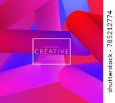 abstract 3d liquid fluid color... | Shutterstock .eps vector #785212774