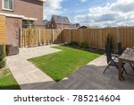 backyard of a home | Shutterstock . vector #785214604