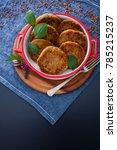 homemade buckwheat burger vegan ... | Shutterstock . vector #785215237