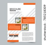 orange flyer design template... | Shutterstock .eps vector #785218309