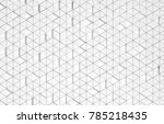 white triangular abstract... | Shutterstock . vector #785218435
