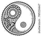 yin yang hand drawn symbol.... | Shutterstock .eps vector #785226667