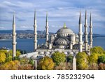 aerial shot of blue mosque ... | Shutterstock . vector #785232904