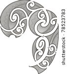 maori style tattoo design fit... | Shutterstock .eps vector #78523783