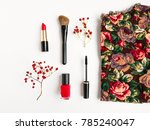 woman accessories collage with... | Shutterstock . vector #785240047