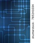dark blue indian curved... | Shutterstock . vector #785241034